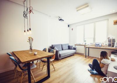 Wnętrza mieszkania, Tychy – ul. Cienista