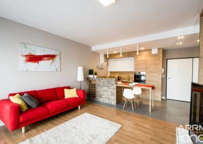 Wnętrza mieszkania pod wynajem – Warszawa-Wilanów
