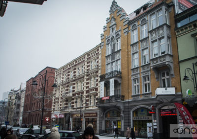 Remont elewacji budynku kamienicy przy ul. Stawowej 8 w Katowicach.